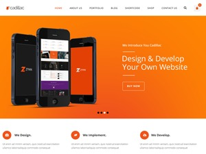 Cadillac WordPress theme