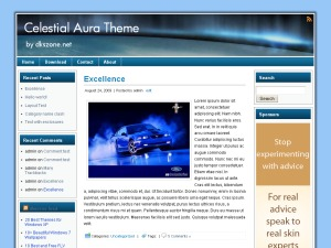 Celestial Aura WordPress template