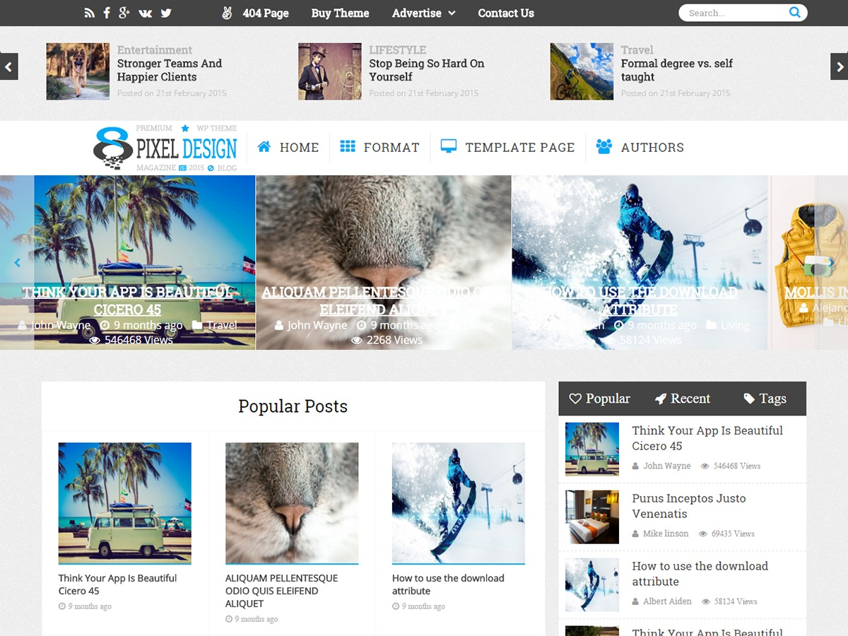 ClesarMedia theme WordPress free