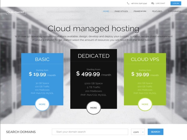 CloudHost business WordPress theme