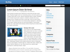 ColdBlue theme WordPress
