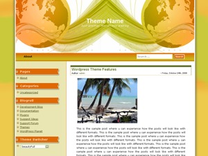 Corporate Globe top WordPress theme