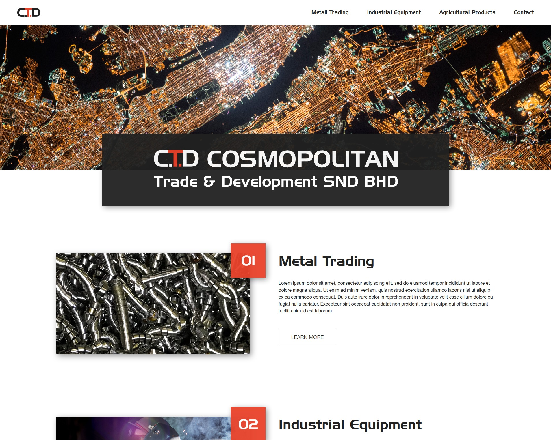Cosmopolitan company WordPress theme