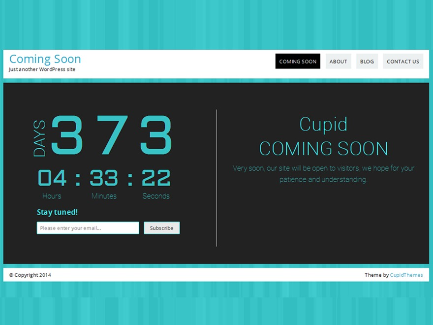Count Down WordPress theme