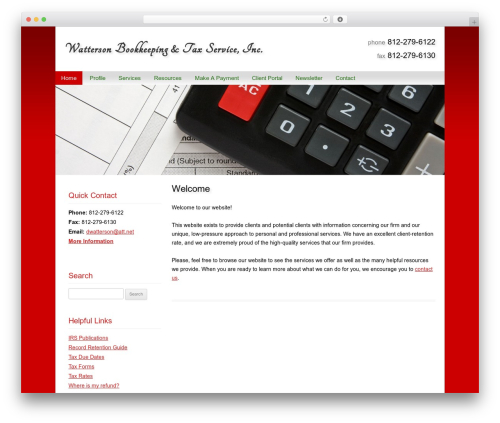 Customized premium WordPress theme - wattersontax.com