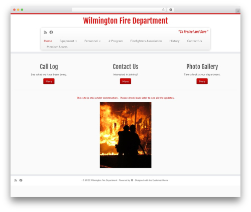 Customizr best WordPress theme - wilmingtonvtfiredept.com