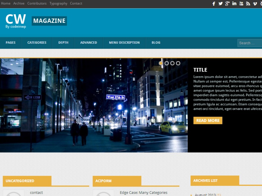 CW Magazine newspaper WordPress theme