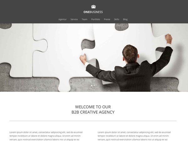 DI OneBusiness WordPress template for business