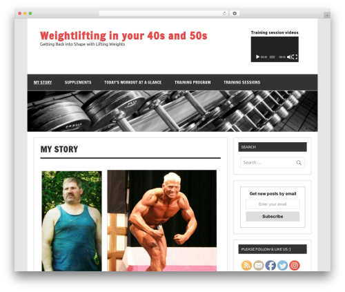 Dynamic News Lite free WP theme - weightliftinginyour40s.com