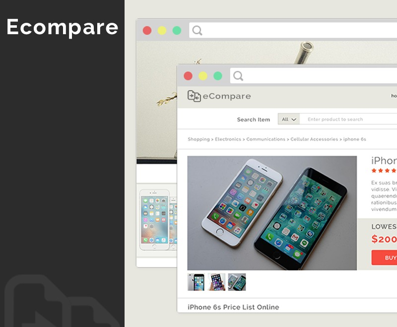 Ecompare Theme premium WordPress theme