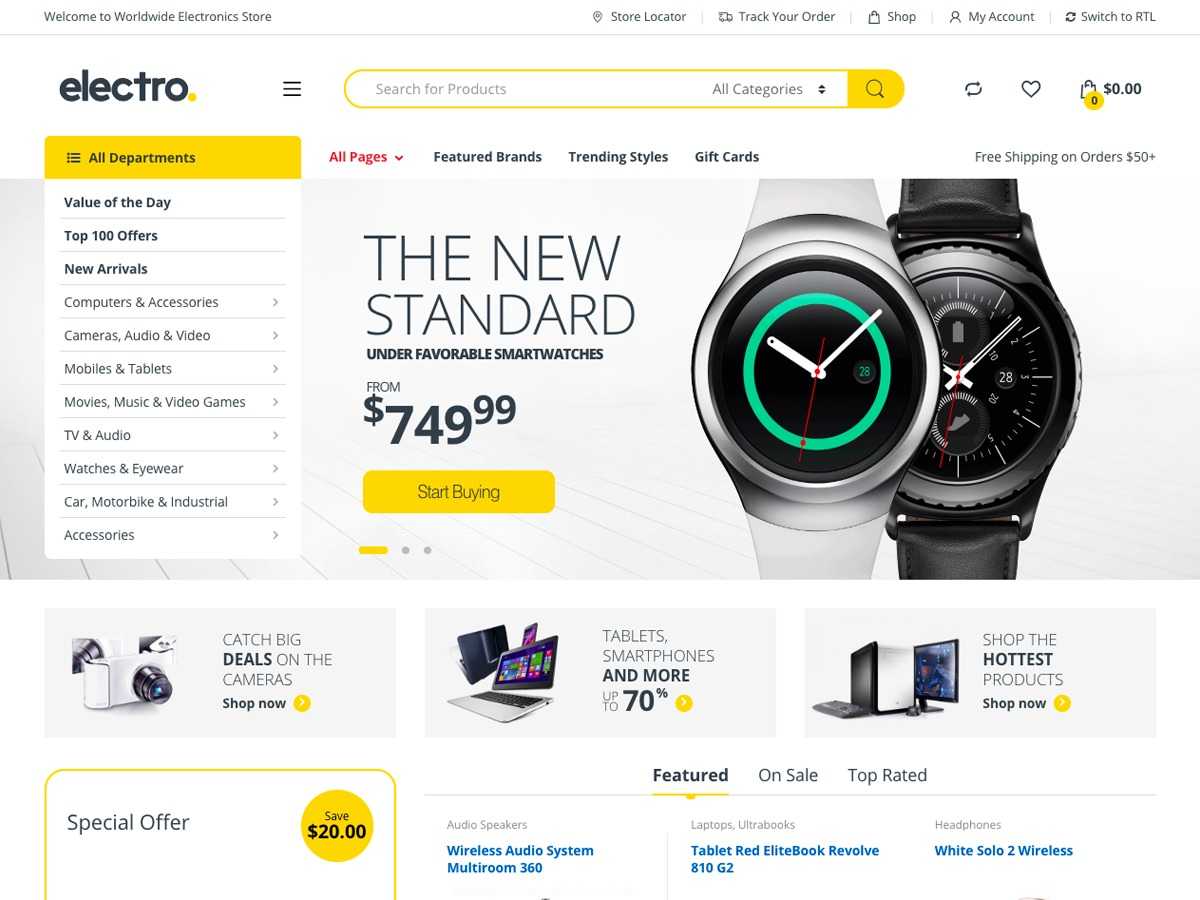 Electro WordPress ecommerce template