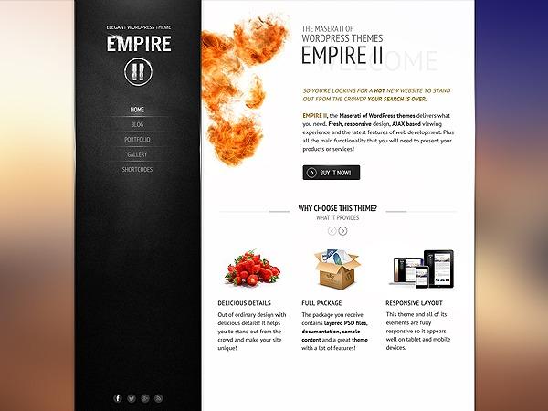 Empire II theme WordPress