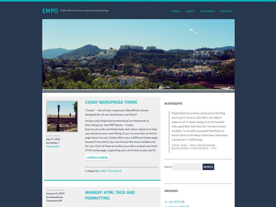 Empo landscaping WordPress theme