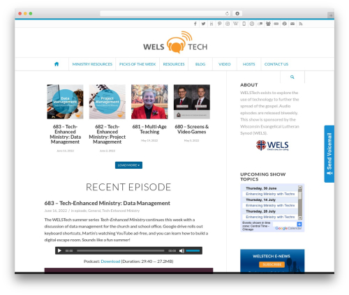 Free WordPress PowerPress Podcasting plugin by Blubrry plugin - welstech.wels.net