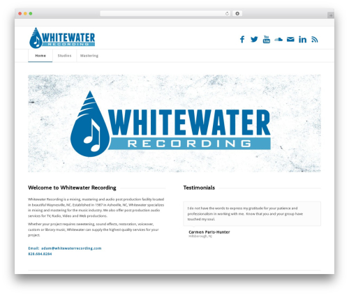 Enfold WordPress theme - whitewaterrecording.com