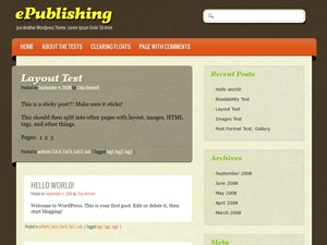 ePublishing premium WordPress theme
