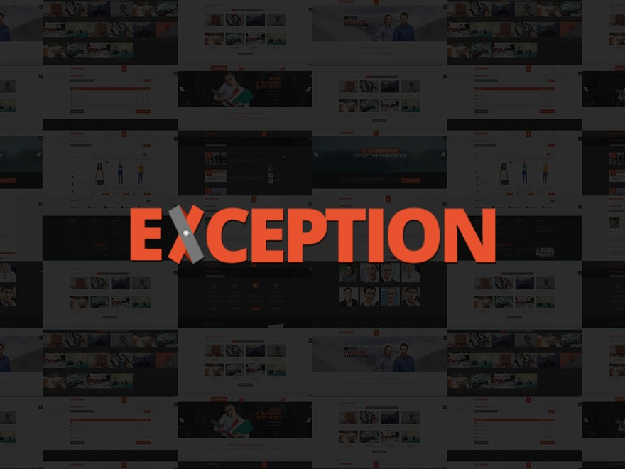 EXCEPTION theme WordPress
