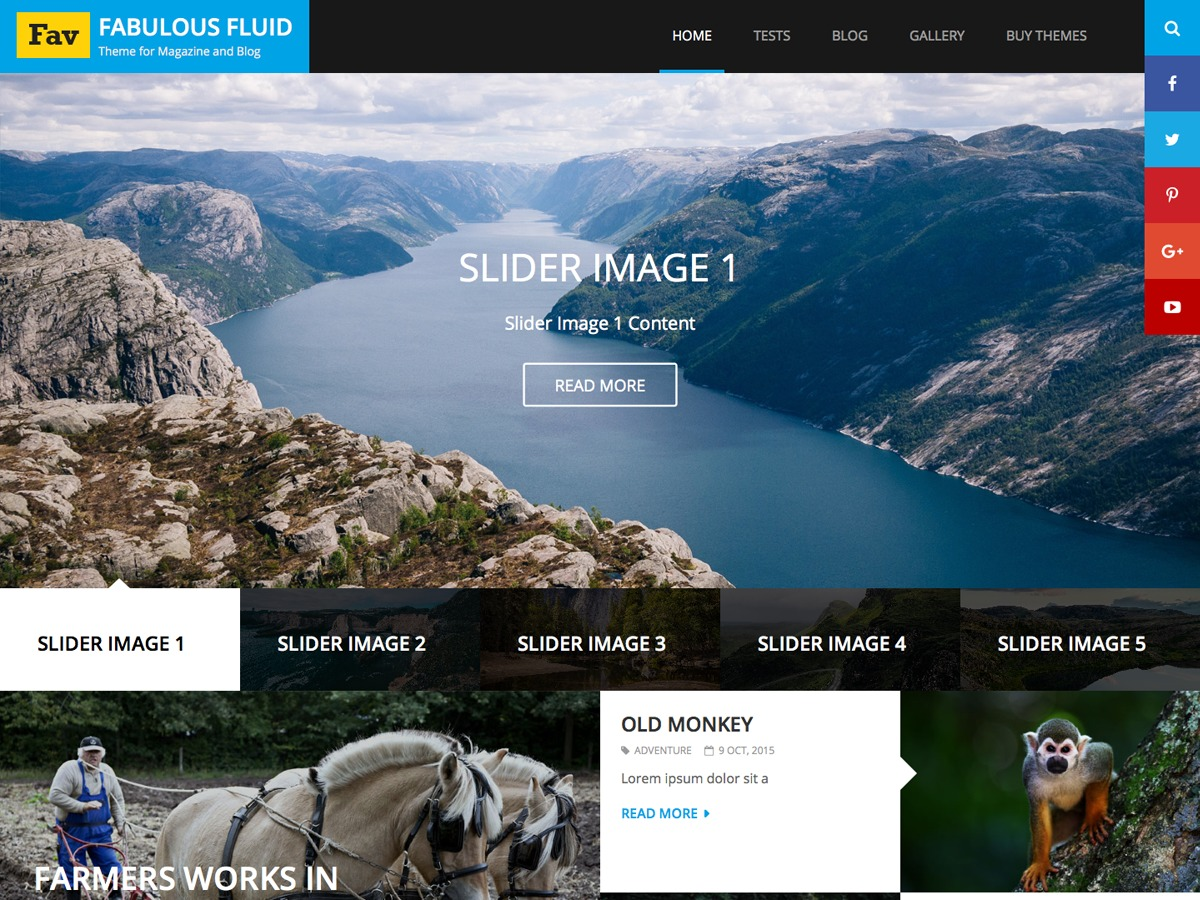 Fabulous Fluid WordPress blog template