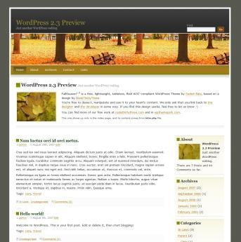 FallSeason theme WordPress