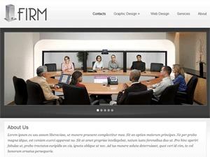 Firm company WordPress theme