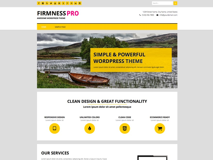 Firmness Pro business WordPress theme