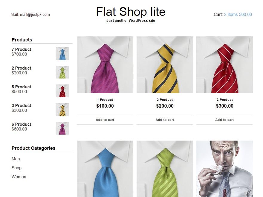 Flat Shop lite WordPress ecommerce theme