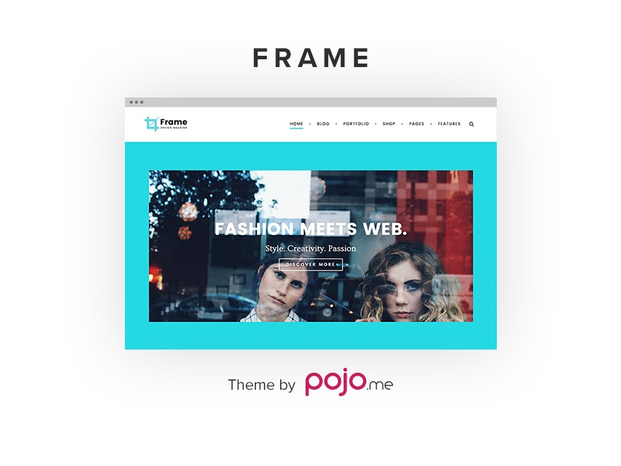 Frame best WordPress theme