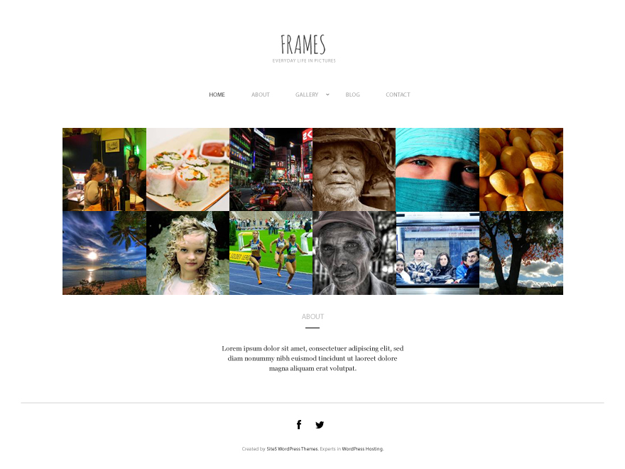 Frames WordPress template