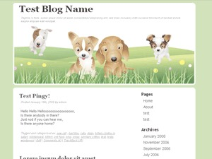 Furry Family WordPress theme image
