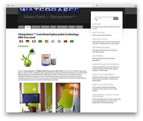 Fusion WordPress theme - waterbasedglasspaint.com