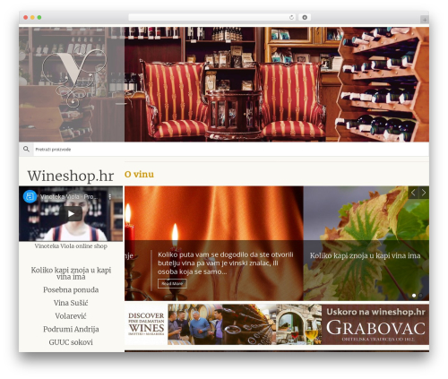 Genesis WordPress ecommerce template - wineshop.hr