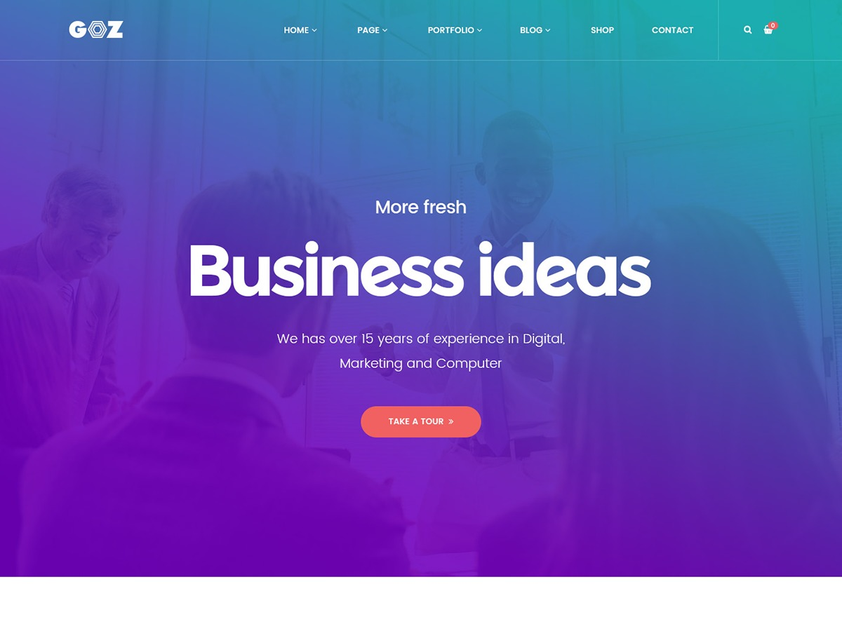 goz WordPress ecommerce template