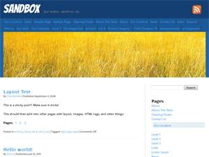Grain WordPress blog theme