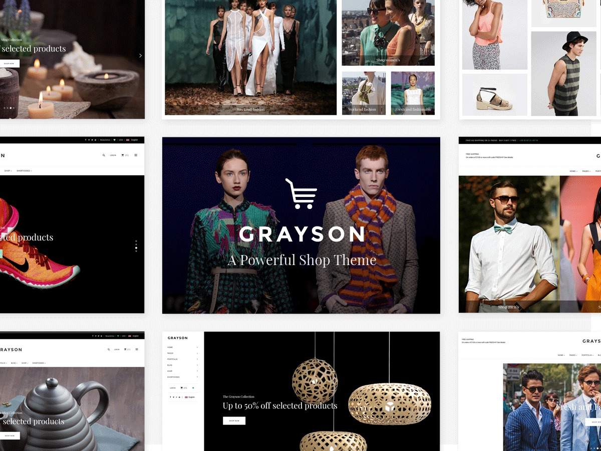 Grayson WordPress ecommerce template