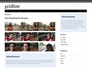 Gridline best WordPress template