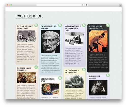 Grido WordPress theme - when.larkin.net.au