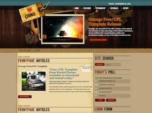 Grunge theme WordPress