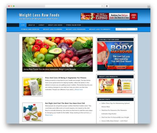 Headlines Enhanced food WordPress theme - weightlossrawfoods.com