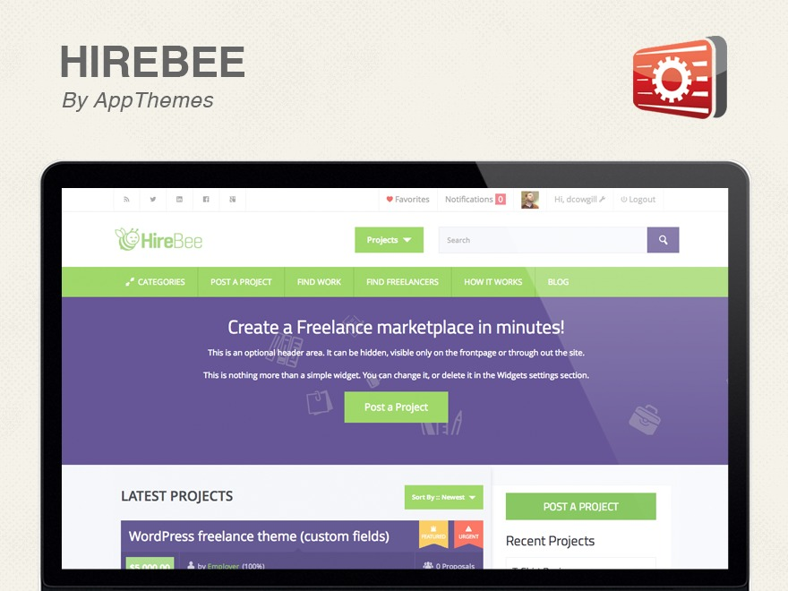 HireBee WordPress theme