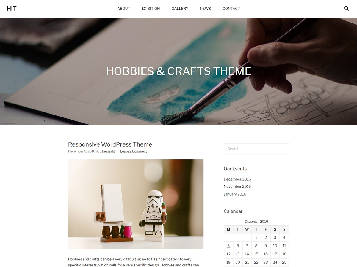 Hit free WordPress theme