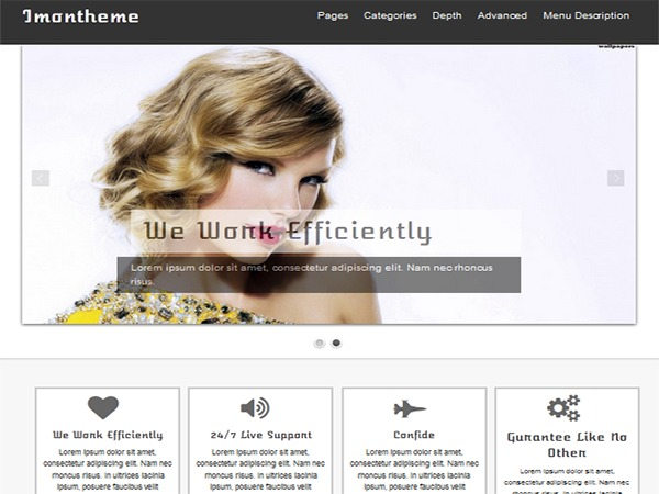 Isis Pro WordPress template for business