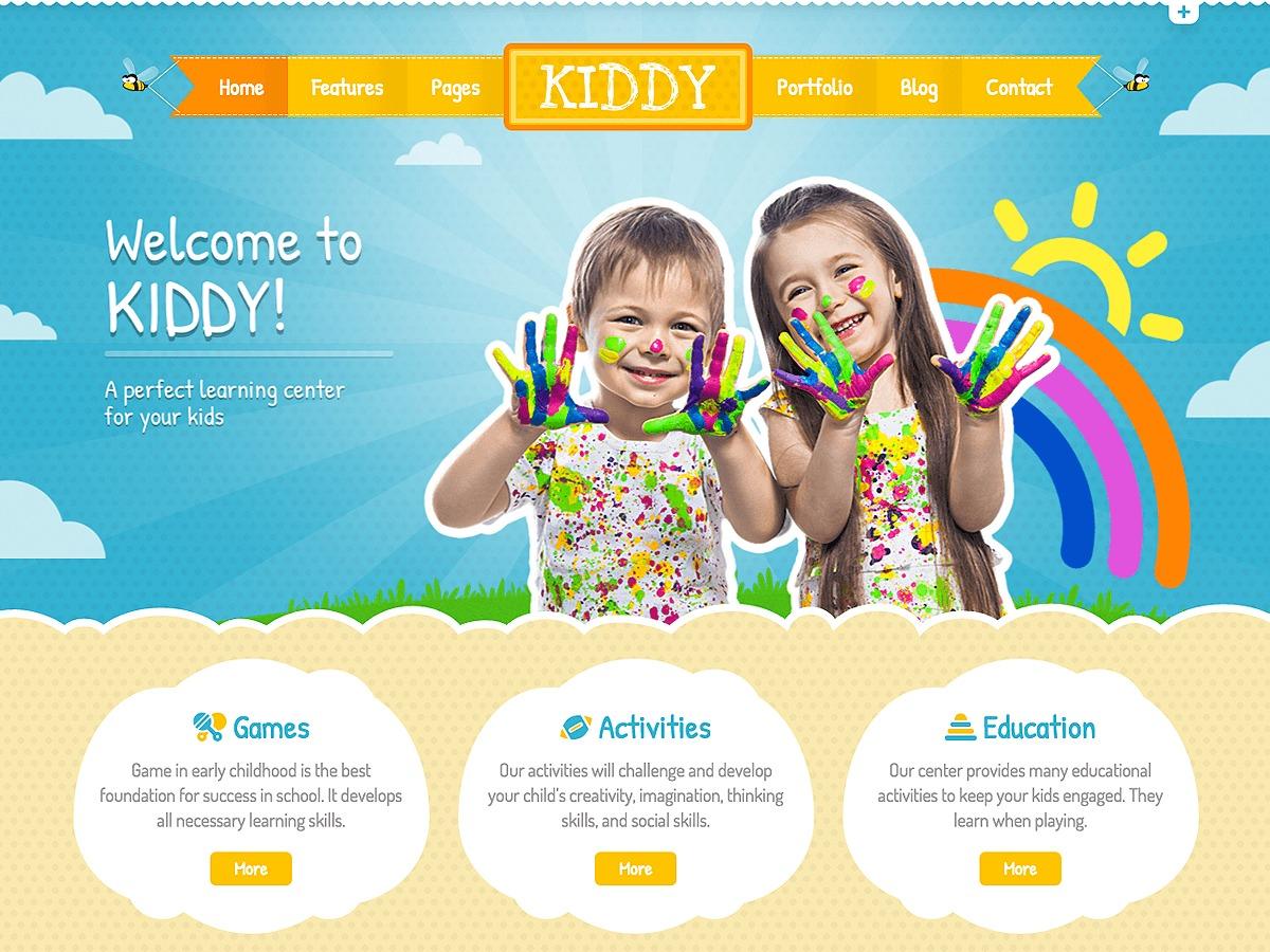 Kiddy WordPress theme design