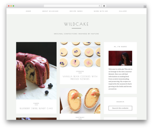 Kindred top WordPress theme - wherethewildcakegrows.com