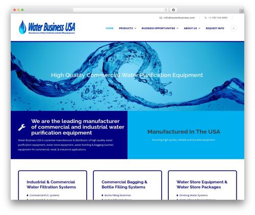 Lawyer Base WordPress ecommerce template - waterbusiness.com