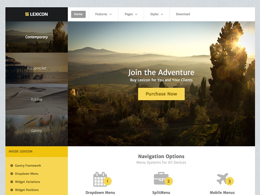 Lexicon WordPress website template