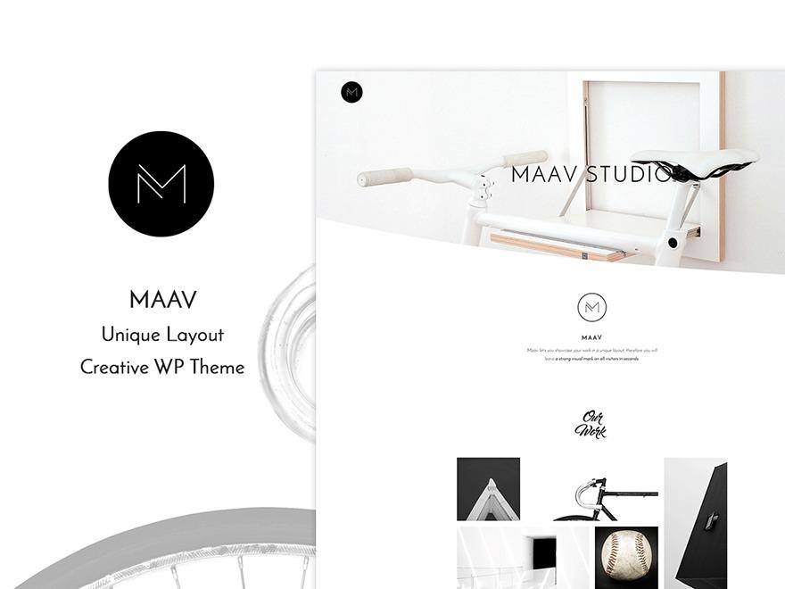 Maav - Creative Responsive Wordpress Theme WordPress website template