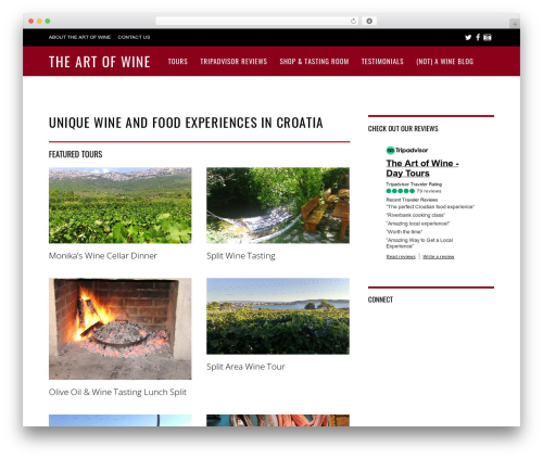 Magazine theme WordPress - winetastingcroatia.com