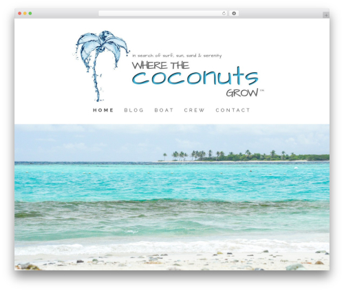 Make best free WordPress theme - wherethecoconutsgrow.com