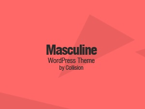 Masculine theme WordPress
