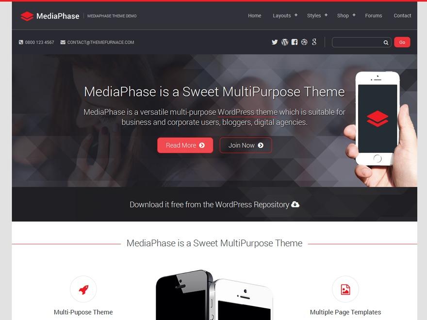 Mediaphase Lite business WordPress theme